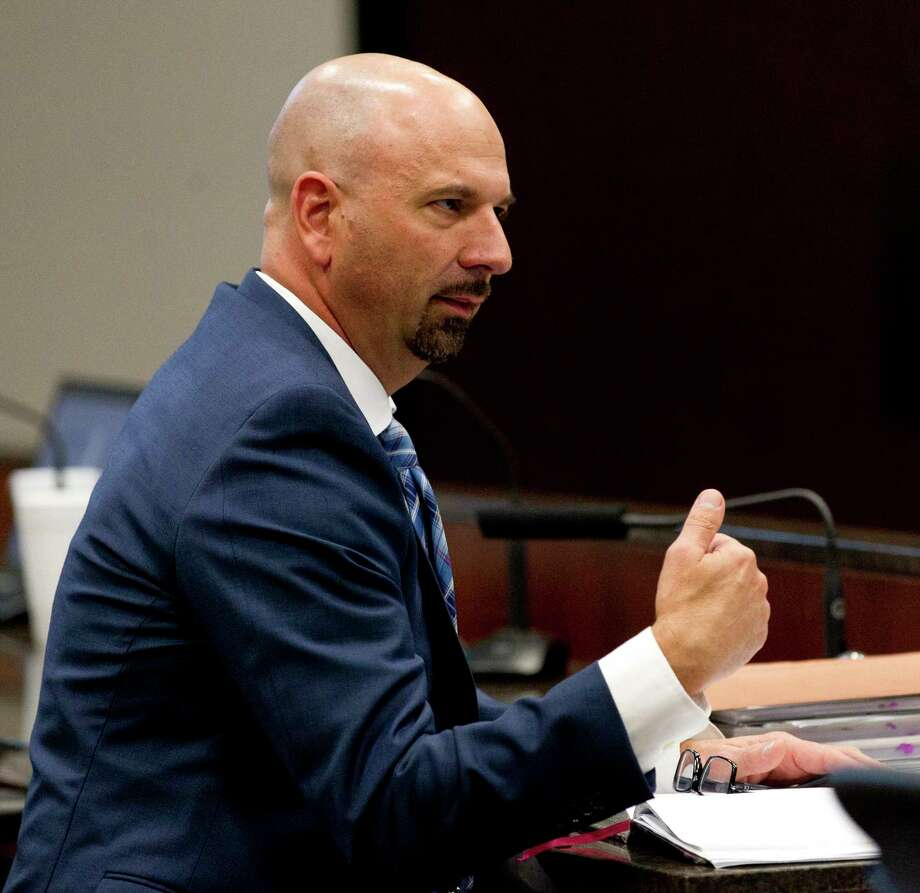 Conroe Assistant City Administrator Steve Williams told council members Thursday a bond refund will save the city almost $4 million. Photo: Jason Fochtman, Houston Chronicle / Staff Photographer / © 2019 Houston Chronicle