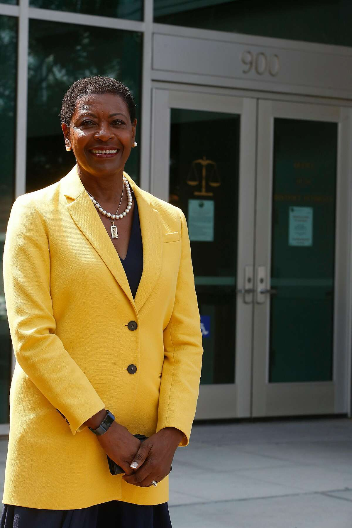 District Attorney Diana Becton stands for a portrait in front of the Office of the District Attorney on Friday, August 28, 2020 in Martinez, Calif.