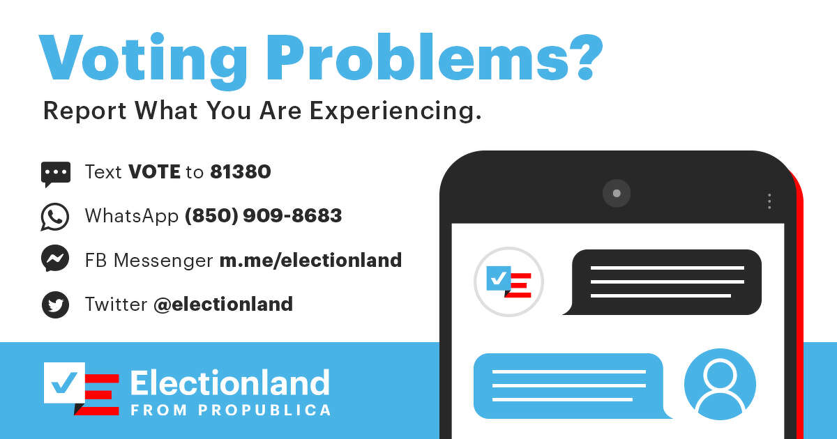 Electionland, is an attempt to make it as easy as possible for you to tell us about any voting issues you may have. It also helps us put it all into context, considering similar polling problems all across the United States.