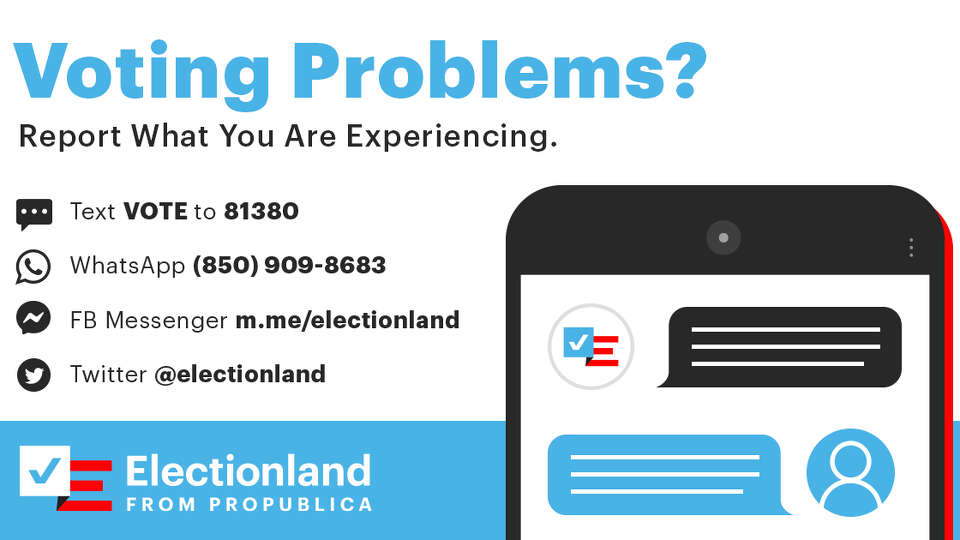 Help us track problems at the polls
