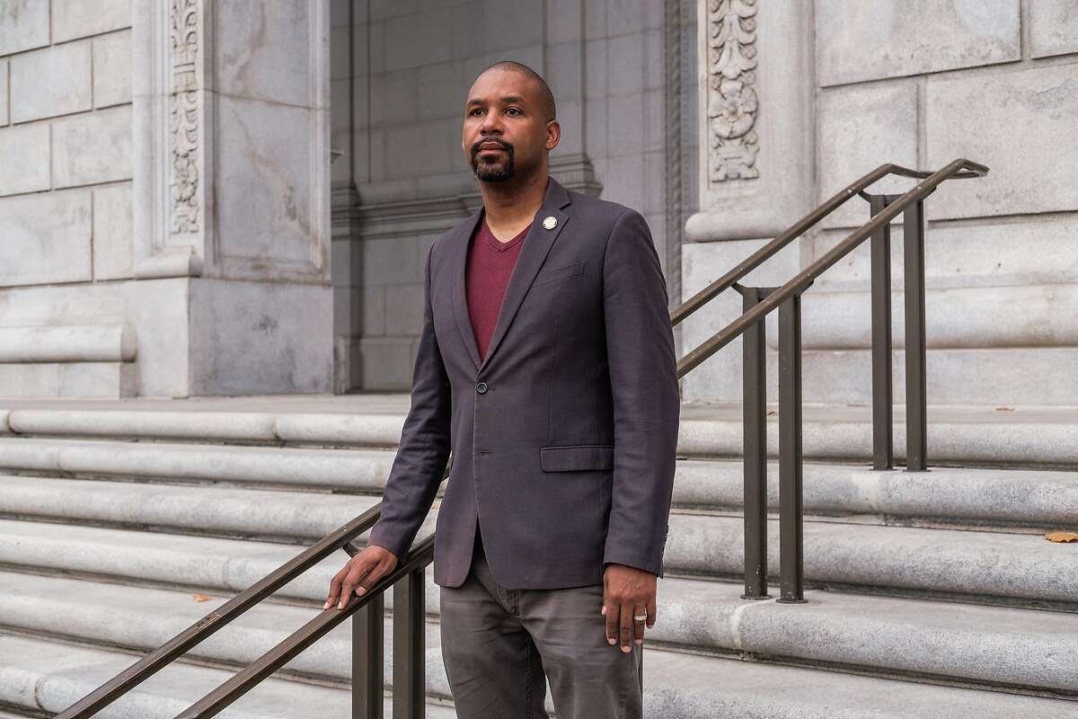 Supervisor Shamann Walton poses for a photograph in San Francisco on Monday, September 14, 2020. Walton is the author of the city's Proposition D, a measure he believes is needed to increase oversight and accountability of the San Francisco Sheriff's Department.