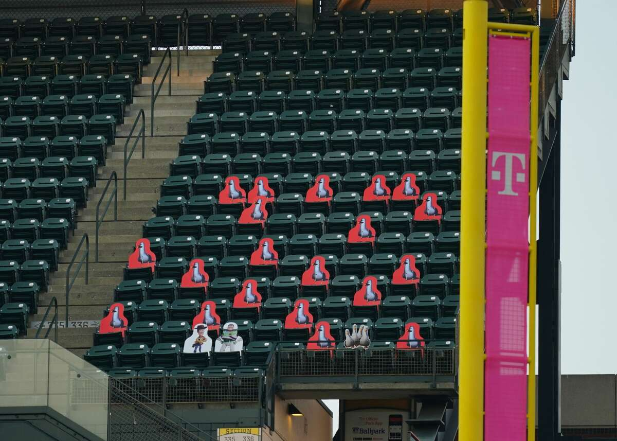 This season, Oracle Park has filled some of the stadium's empty seats with seagull cutouts.