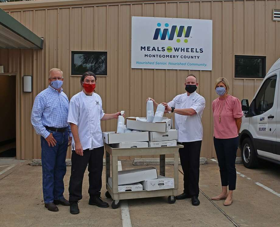 Chef Austin Simmons of TRIS in The Woodlands provided over 1,000 pounds of ground beef to Meals on Wheels Montgomery County (MOWMC), assisting in their mission to provide nutritious meals to homebound seniors. The donation will generate 5,000 servings to local homebound seniors in the community. Photo: Courtesy Photo