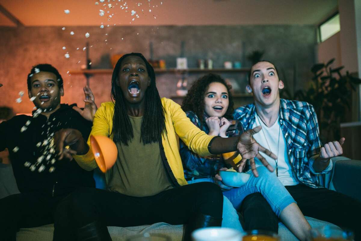 Watching a scary movie with members of your household is also a low-risk activity, but maybe consider giving everyone their own popcorn bowl to munch out of. An outdoor Halloween movie night with local family friends is considered a moderate risk activity.