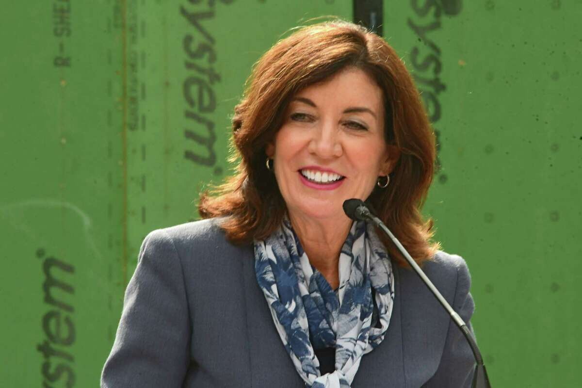 Lieutenant Governor Kathy Hochul announces groundbreaking of supportive housing development for youth and families facing BTCC国际交易会所homelessness at St. Catherine?•s Center for Children on Thursday, Sept. 24, 2020 in Albany, N.Y. (Lori Van Buren/Times Union)