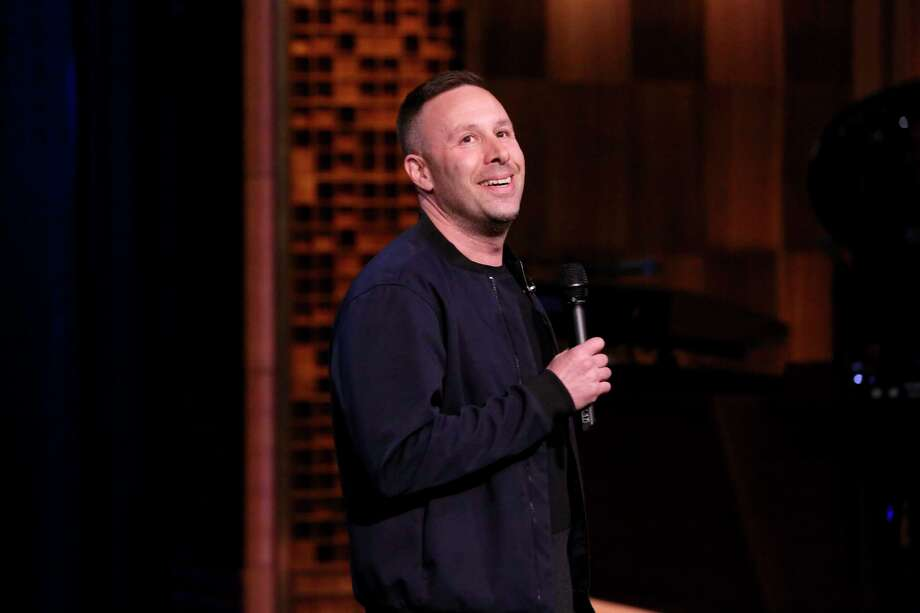 "DOV AT COMIX: Comic Dov Davidoff, seen here on Jimmy Fallon's ""Tonight Show"" in 2018, will perform at Comix Roadhouse at Mohegan Sun Resort & Casino, 1 Mohegan Sun Blvd. Oct. 1, 8 p.m.; Oct. 2, 7:30 p.m.; Oct. 3, 7, 9:30 p.m. $55-$20. Photo: Andrew Lipovsky /NBCU Photo Bank Via Getty Images / 2018 NBCUniversal Media, LLC"
