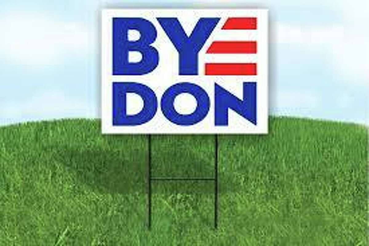 A campaign sign in support of presidential candidate Joe Biden.