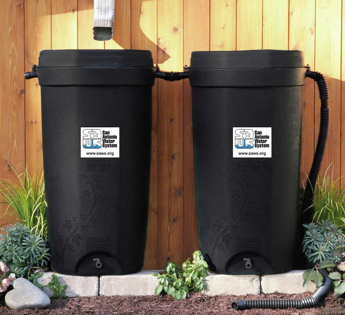 A rain water collection system