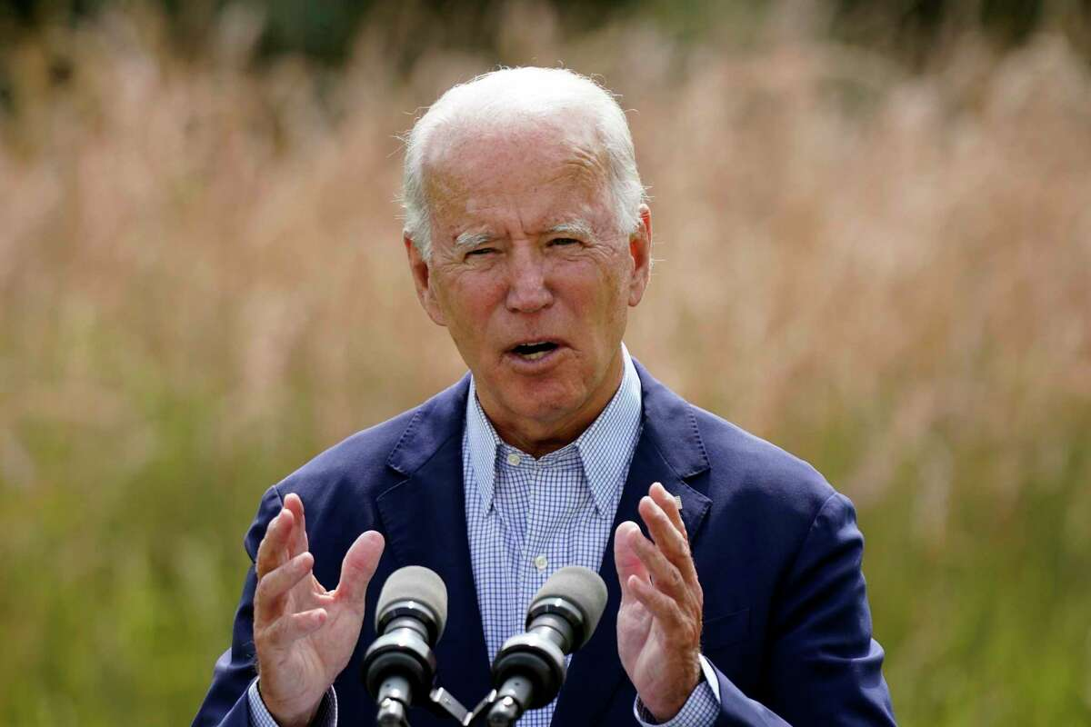 Democratic presidential candidate and former Vice President Joe Biden speaks about climate change and wildfires affecting western states Sept. 14 in Wilmington, Del.