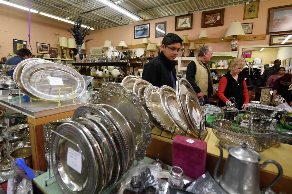 Shoppers peruse items at the Texas Size Garage Sale on Oct. 13, 2018. The annual fundraiser for Meals on Wheels kicks off Oct. 7. Click through to see photos from last year's Texas Size Garage Sale>>>