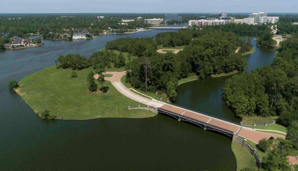 The plans to seek a re-plat of the 16-acre island near the southeast shore of Lake Woodlands - the only island in The Woodlands - and build 58 homes are now canceled. Instead, Howard Hughes will construct between 25 and 30 homes, with a promise of no more than 30 homes, while preserving space for the eagles, which live in nearby Hughes Landing..