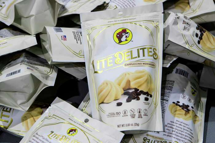 Bags of Lite Delites meringue cookies are prepared to be boxed up for shipping at Santte Foods Wednesday, Sept. 23, 2020 in Oak Ridge North. Business is picking up for Santte Foods after several slow months when COVID-19 hit. The manufacturer of Tidbits Fun Bites reached a deal with Sam's Club to sell the low calorie meringue treats at select Houston stores on a trial basis.The facility currently produces between 50,000 and 65,000 bags per month of two-calorie meringue cookies. They are gluten free, lactose free, soy free and non GMO and use all natural ingredients. There are also product lines for diabetics and those following a keto diet.