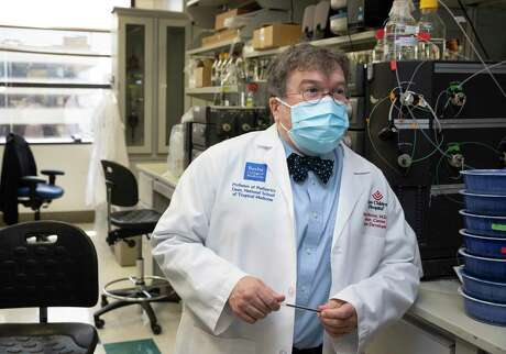 Peter Hotez, co-director of Texas Children's Hospitals Center for Vaccine Development, talks about developing vaccine for COVID-19 Thursday, June 18, 2020, in Houston. The lab has been working to develop vaccine for COVID-19 with yeast.