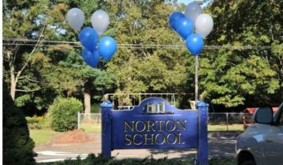 A file photo of the entrance to Cheshire's Norton Elementary School, one of four in Connecticut to receive the 2020 National Blue Ribbon School designation from the U.S. Department of Education. Photo: Contribted