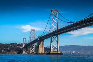 Protesters attempted to block traffic on the Bay Bridge, as well as the Golden Gate and Dumbarton bridges, on Thursday, Sept. 24, 2020.