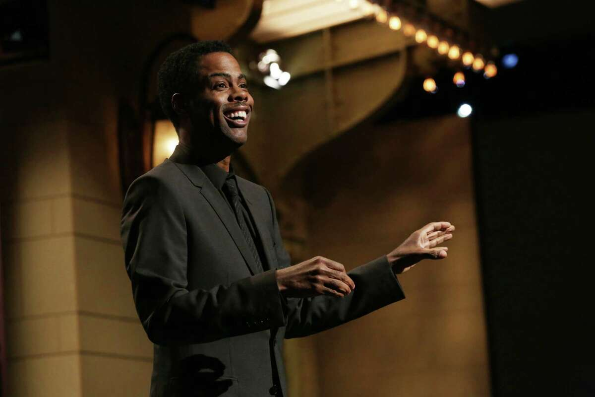 SATURDAY NIGHT LIVE 40TH ANNIVERSARY SPECIAL -- Pictured: Chris Rock during the Eddie Murphy Tribute on February 15, 2015 -- (Photo by: Chris Haston/NBCU Photo Bank/NBCUniversal via Getty Images via Getty Images)