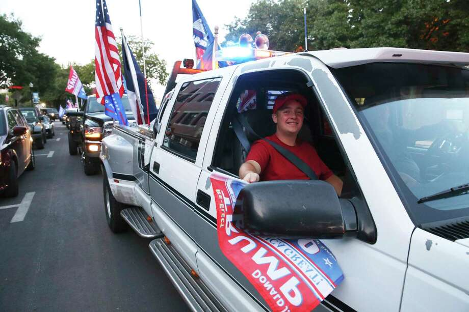 The Trump Train begins in Gruene and travels to downtown New Braunfels on Thursday. Photo: Tom Reel /Staff Photographer / **MANDATORY CREDIT FOR PHOTOG AND  SAN ANTONIO EXPRESS-NEWS/NO SALES/MAGS OUT/TV