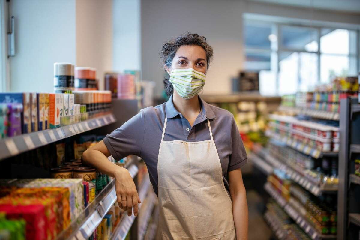A frontline worker asks for customers to understand the dangers they face every day during a pandemic.