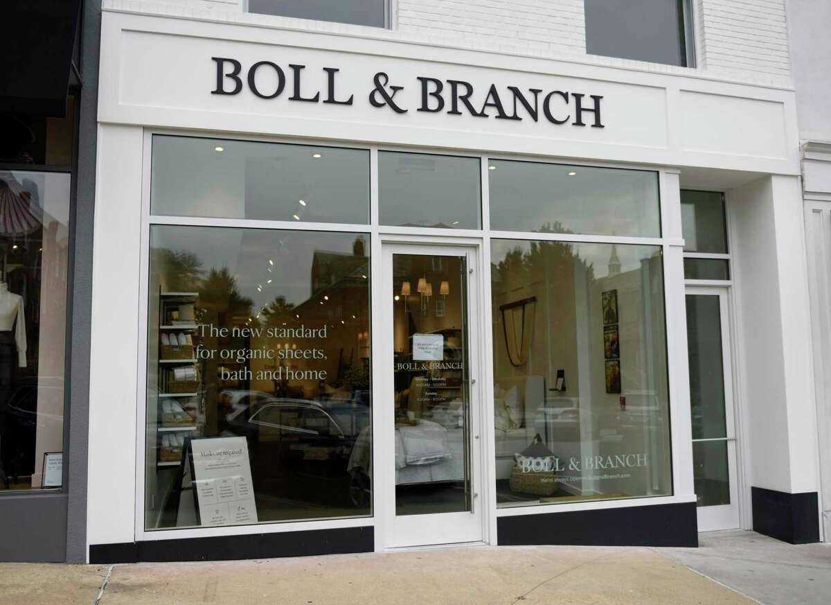 The new Boll & Branch luxury bedding store located at 169 Greenwich Ave. in Greenwich, Conn. Tuesday, Sept. 24, 2020.
