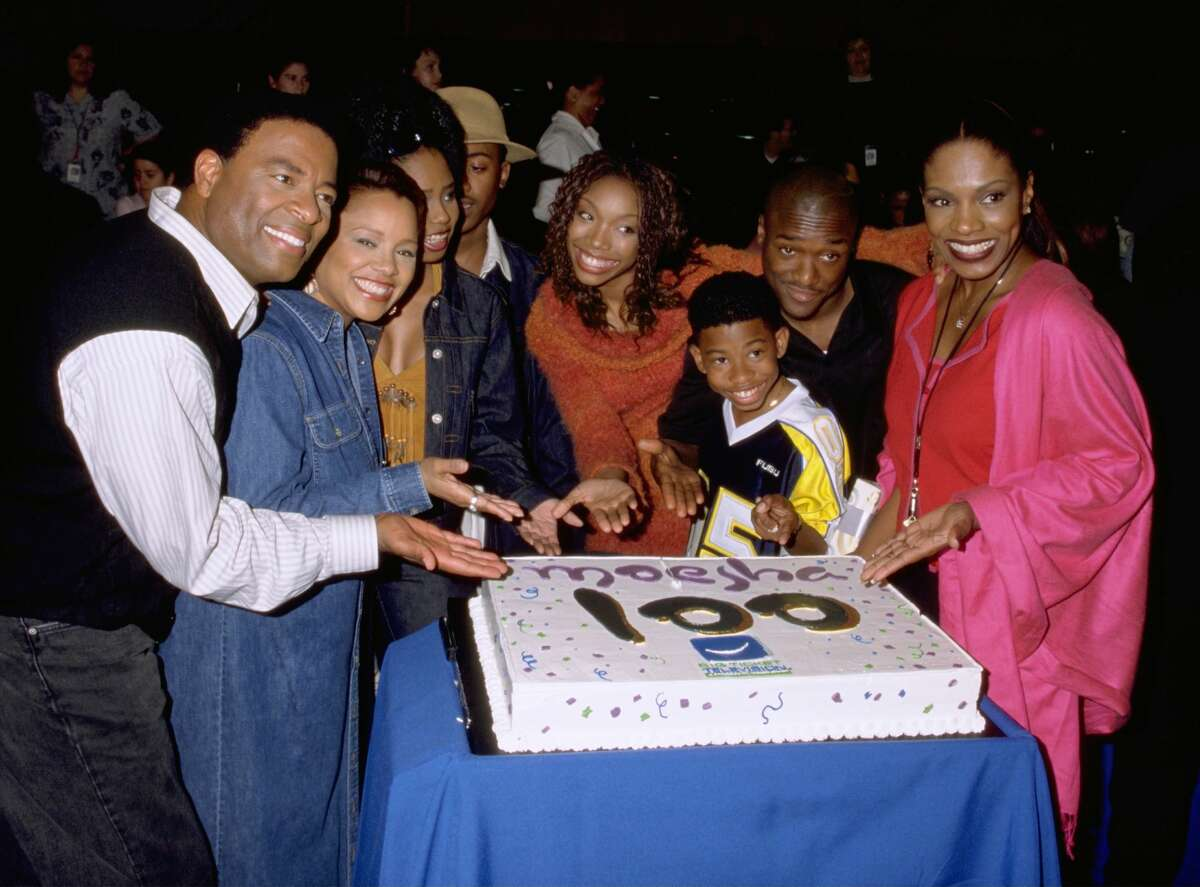 Actress Brandy (Center, Orange Sweater), Star Of Upn's