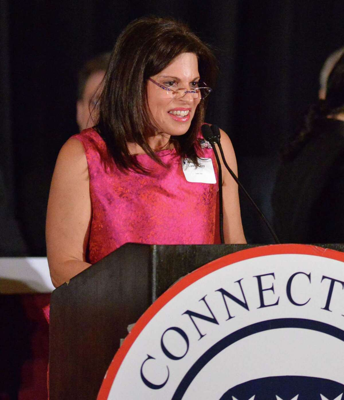 Leora Levy of Greenwich during the 36th annual Prescott Bush Awards Dinner in Stamford, Connecticut, in 2014.