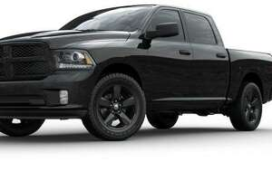 State police provided this file photo of a Dodge Ram pickup truck that detectives say resembles the one allegedly used during a shooting in a commuter lot in Manchester, Conn., on Aug. 2, 2020. Two people died from their injuries within days of the shooting.