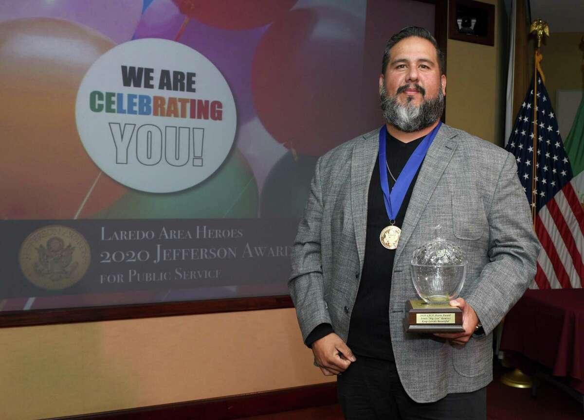 Luis Ramirez of Keep Laredo Beautiful received the 2020 Jefferson Award and Acorn Award.