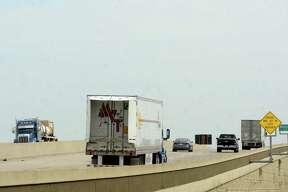 Semis traverse Interstate 10. Photo taken Friday, September 18, 2020 Kim Brent/The Enterprise