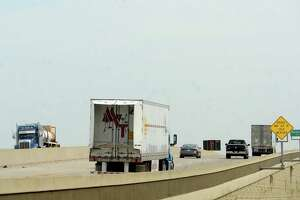Semis traverse Interstate 10. Photo taken Friday, September 18, 2020 Kim Brent/The Enterprise