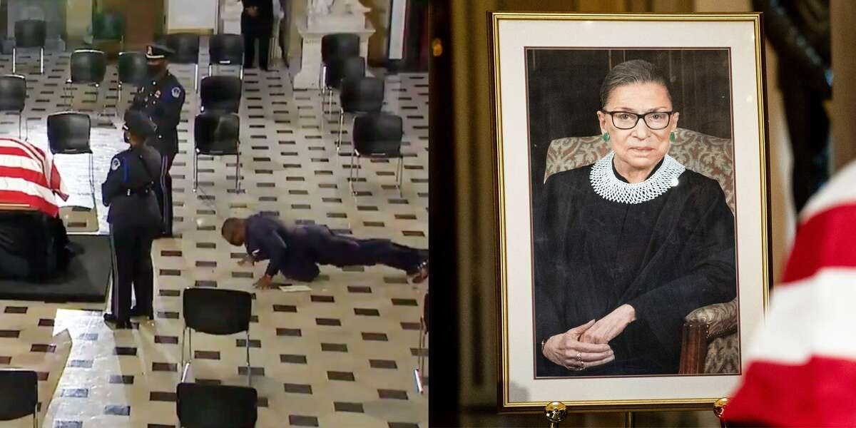 RBG's Trainer Did Pushups In Tribute To Her: Ruth Bader Ginsburg's personal trainer, Bryant Johnson, did pushups to pay tribute to the late Supreme Court justice while she was lying in state.