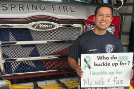"""The Spring Fire Department is among the first response agencies to participate in the Kailee Mills Foundation's new """"Who do YOU buckle up for?"""" campaign launched Sept. 14, 2020."""