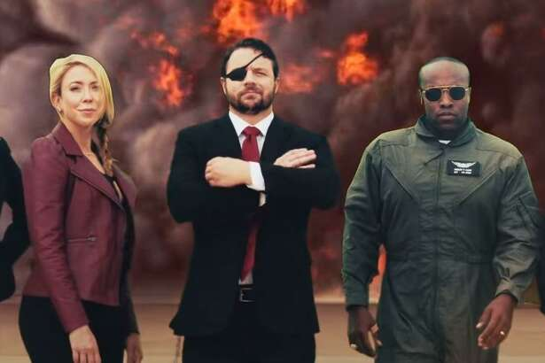 In a nearly 4-minute video clip, Rep. Dan Crenshaw, a retired Navy SEAL, plays the role of an action hero as he literally jumps out of an airplane on the way to recruit other Texas Republicans to run for Congress. Congressional candidates Wesley Hunt, August Pfluger, Beth Van Dyne, Tony Gonzales and Genevieve Collins also play roles in the ad.