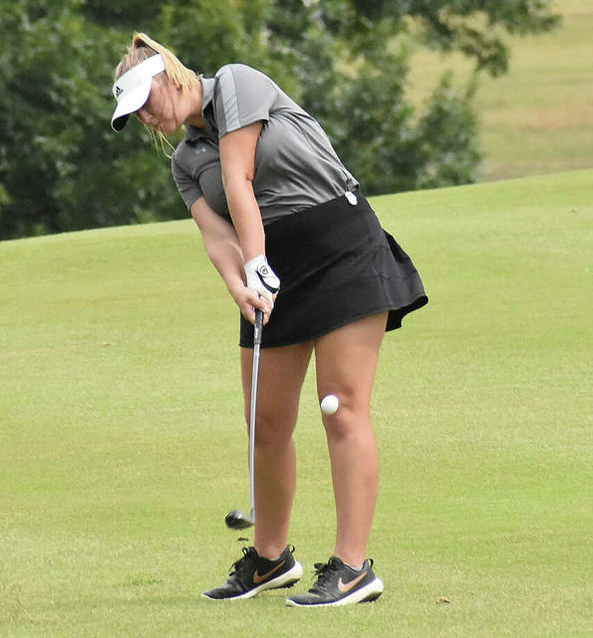 Edwardsville senior Riley Burns will have the chance to qualify and end her prep career at the Gateway PGA Championship. Photo: Matt Kamp|The Intelligencer