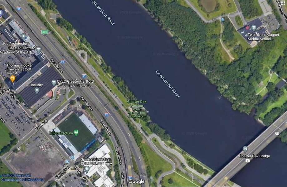 Police said a body was found in the Connecticut River on Friday, Sept. 25, 2020. The investigation is focused in the area of Charter Oak Landing on Reserve Road. Photo: Google Maps