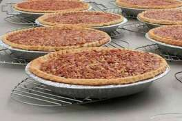 Lovina's pecan pies for a benefit sale. (Courtesy photo)