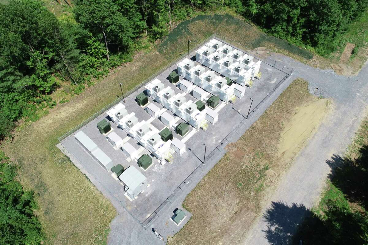 Key Capture Energy's NY-1 battery facility in Saratoga County, N.Y., which can store 20 megawatts of electricity as needed for the grid. (Photo courtesy Key Capture Energy)