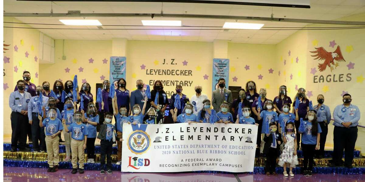Leyendecker Elementary received a Blue Ribbon in the Exemplary Achievement Gap Closing Schools Category.