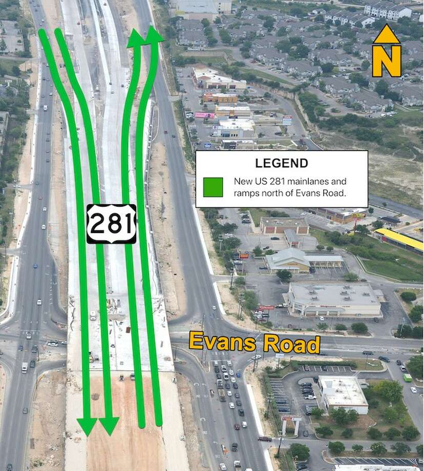 Two new lanes on the remodeled U.S. 281 are scheduled to open the weekend of Sept. 25. Photo: Texas Department Of Transportation