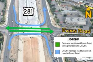Two new lanes on the remodeled U.S. 281 are scheduled to open the weekend of Sept. 25.