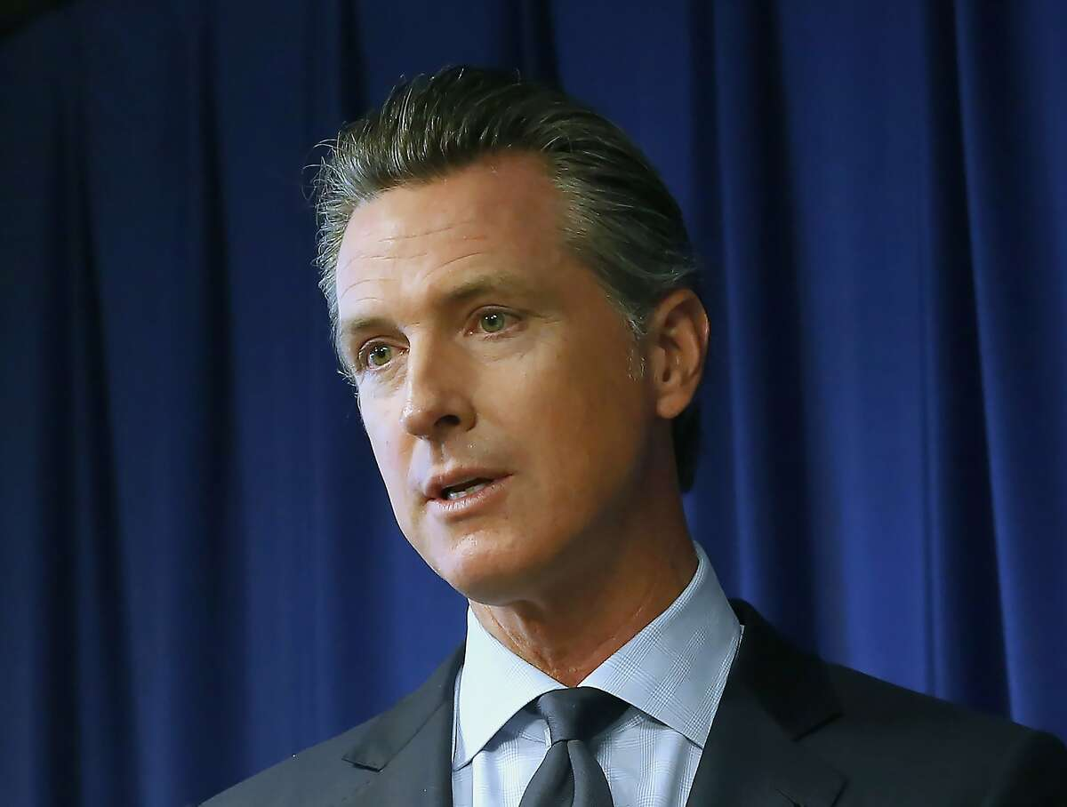 In this Sept. 18, 2019, file photo, Gov. Gavin Newsom speaks at a news conference in Sacramento, Calif.