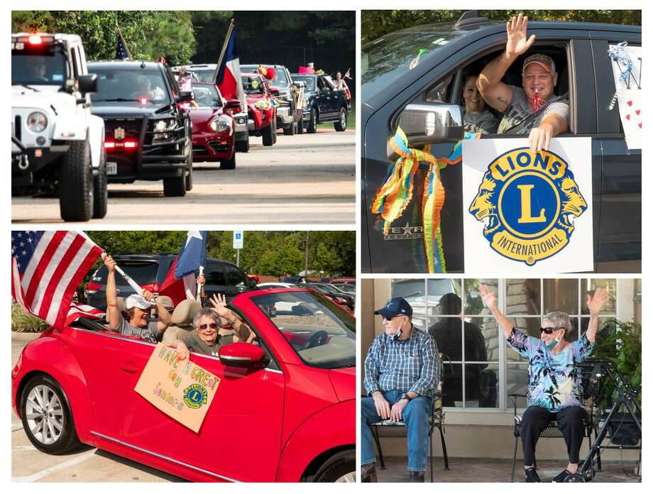 Supporting Seniors - Members of the Conroe Noon Lions Club came out last week to host a Drive-by Parade for the seniors at the Strake Place, Carriage Inn, and Heritage Oaks facilities as part of the club's Service Saturday projects. Photo: Courtesy Photo