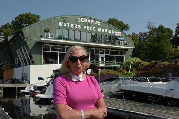 Krista Strol, owner of Gerard's Marina in New Milford, beat COVID-19 after being in Danbury Hospital for six weeks. Doctors had given her a 10 percent chance of surviving. Friday, September 25, 2020, in New Milford, Conn.