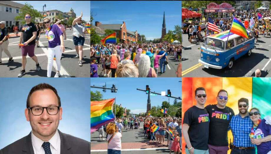 Christopher Forte, Middletown's assistant general counsel, spearheaded the city's first-ever Pride Fest in 2019. It was canceled this year due to the pandemic. Photo: Video Screenshot / International Municipal Lawyers Association Presentation / Connecticut Post