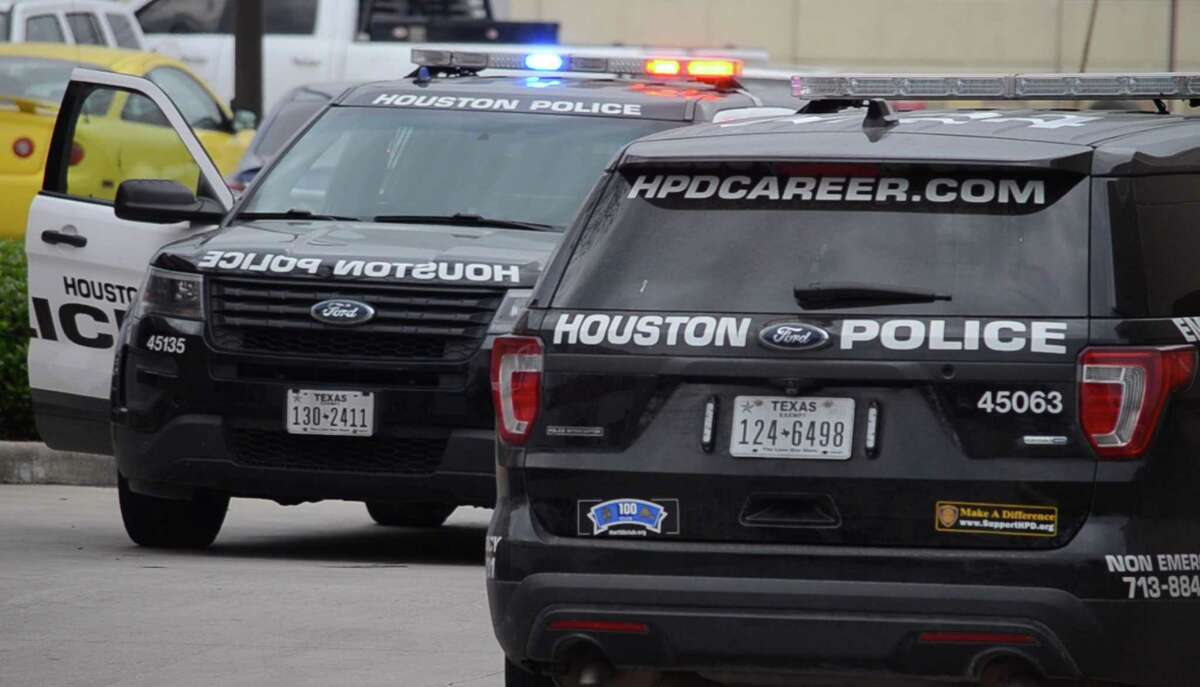 Houston police respond to a scene.