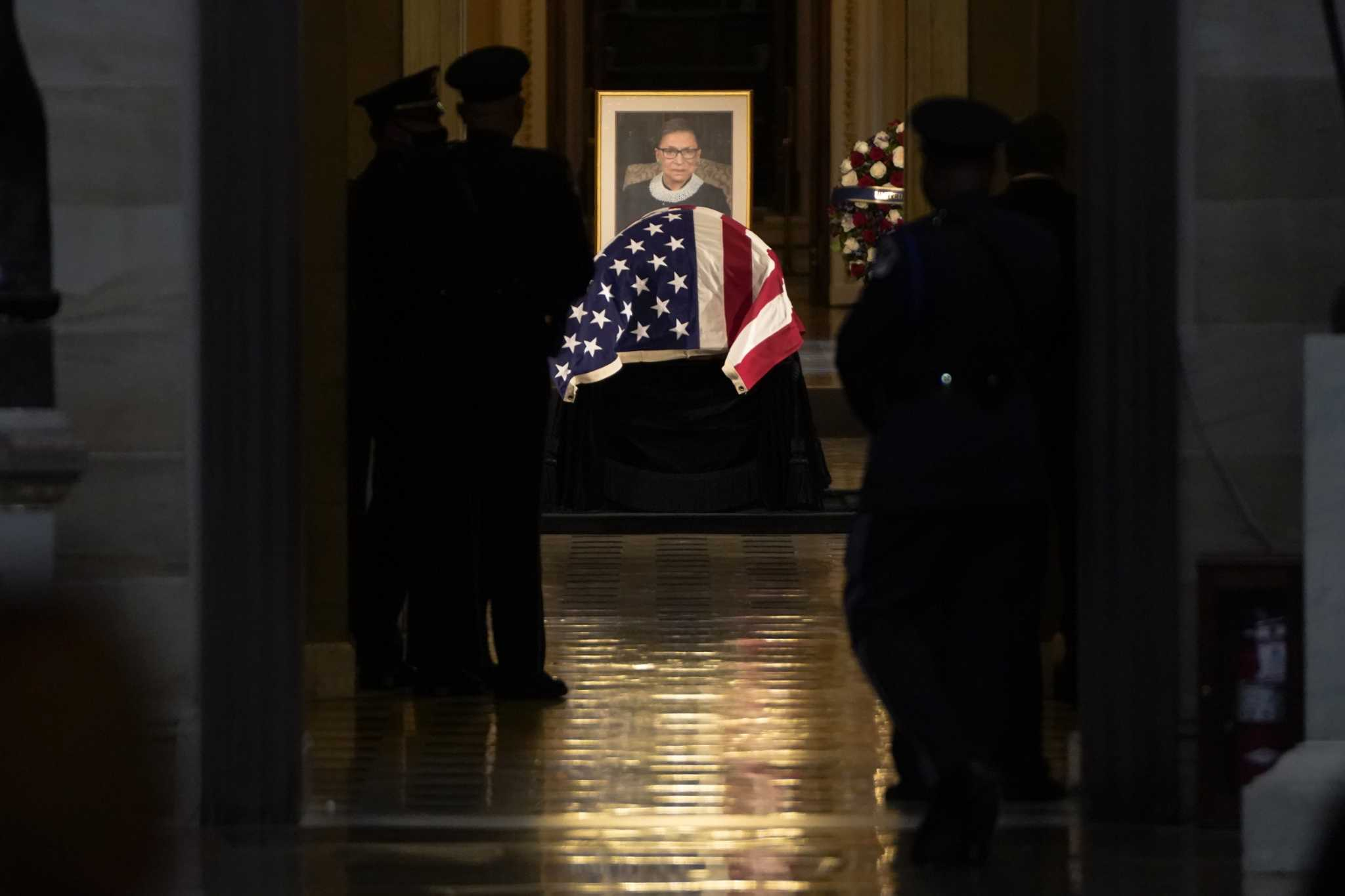 Ginsburg breaks one final barrier as first woman to lie in state at Capitol