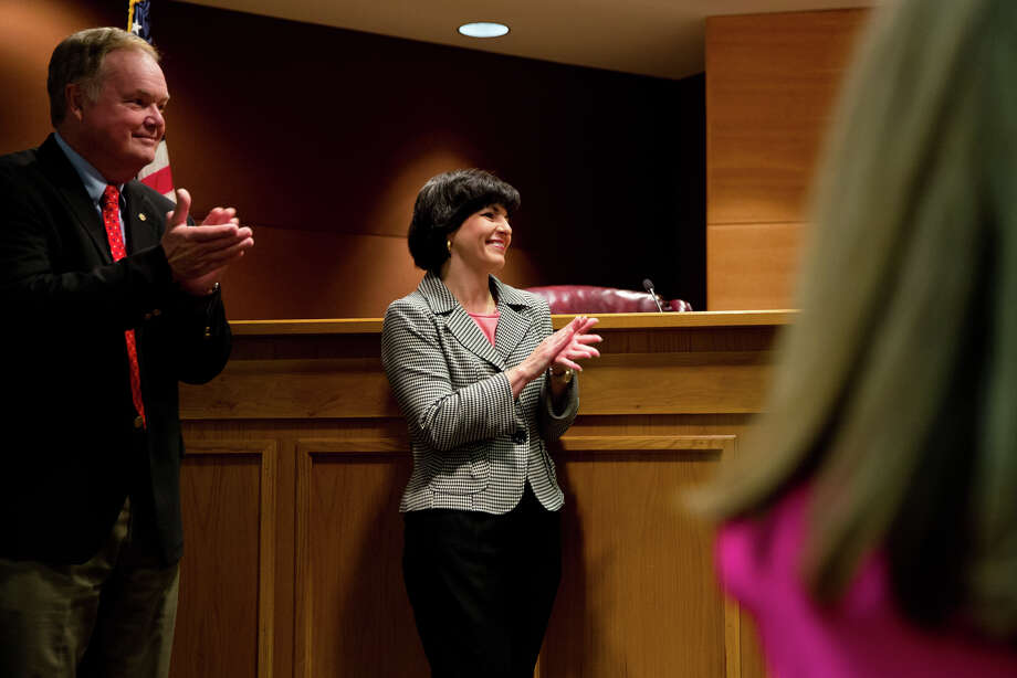 Marking her third time as chairman since she was first elected to the agency in 2012, Christi Craddick was unanimously named chair by her fellow commissioners, Wayne Christian and Ryan Sitton. Photo: Callie Richmond/Callie Richmond For The Houston  / Houston Chronicle