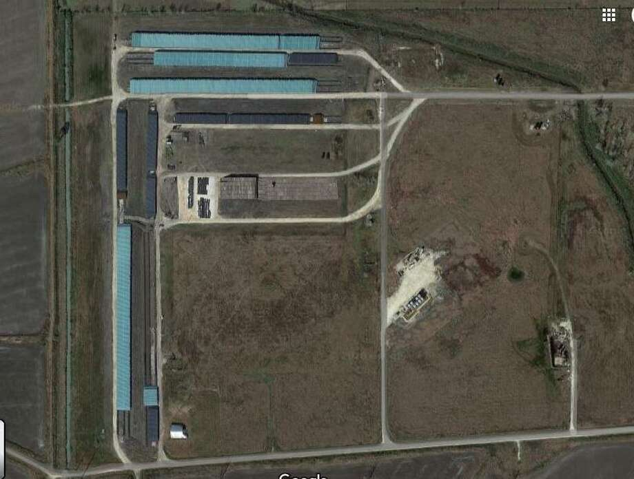 An aerial view of wells near Nome, Texas at the center of a recent fine against a defunct company called Kody Petroleum accused of living inactive wells unplugged. Photo: Google Maps / Google Maps