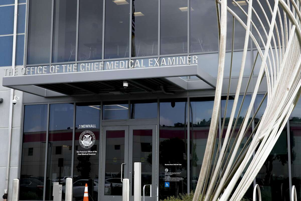 The San Francisco Office of the Medical Examiner is seen along Newhall Avenue in San Francisco, Calif. Friday, April 10, 2020.