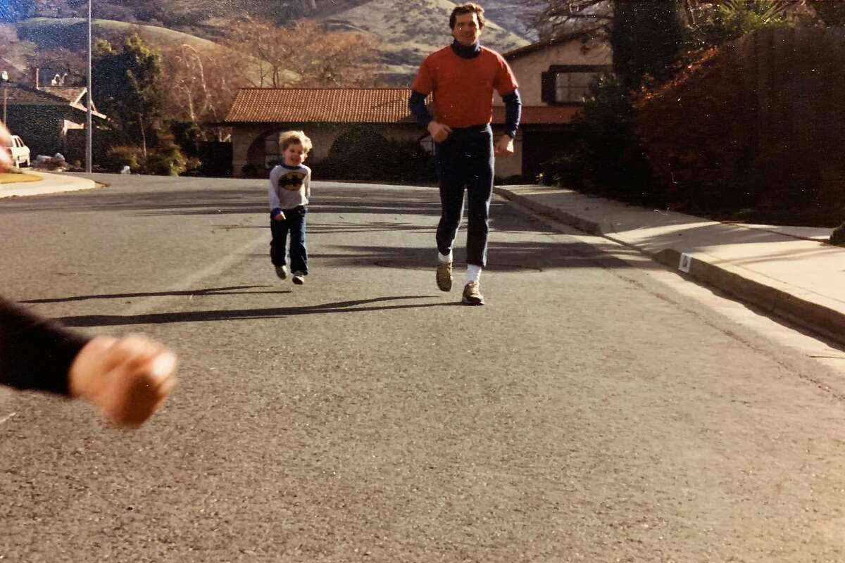 Rep. Mark DeSaulnier, D-Concord, an avid runner, is pictured with his younger son, Tucker, in an undated photograph.