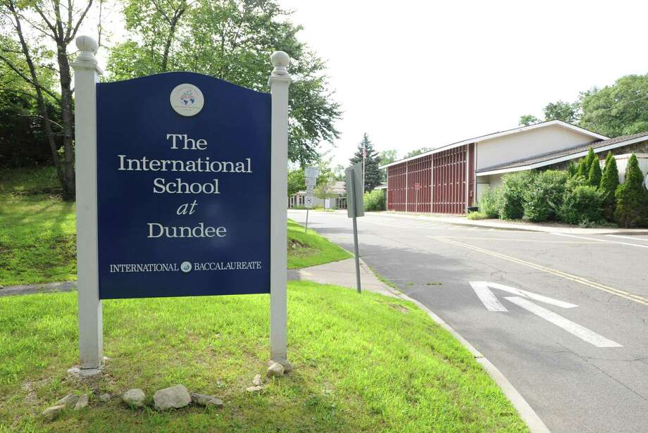 Exterior of the International School at Dundee building in Old Greenwich, Tuesday, Aug. 7, 2012. Photo: File / Bob Luckey / Hearst Connecticut Media / Greenwich Time